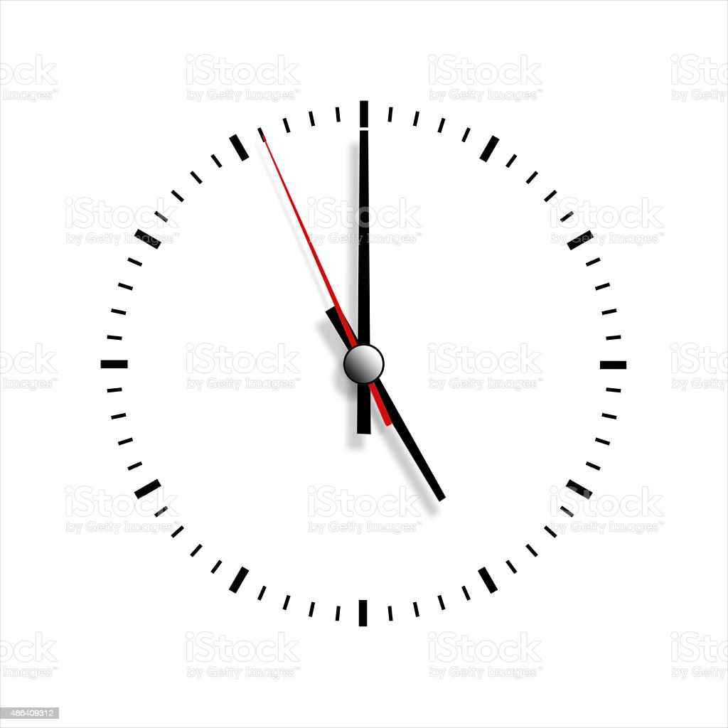 Clock Without Numbers Isolated On White Background Stock Photo