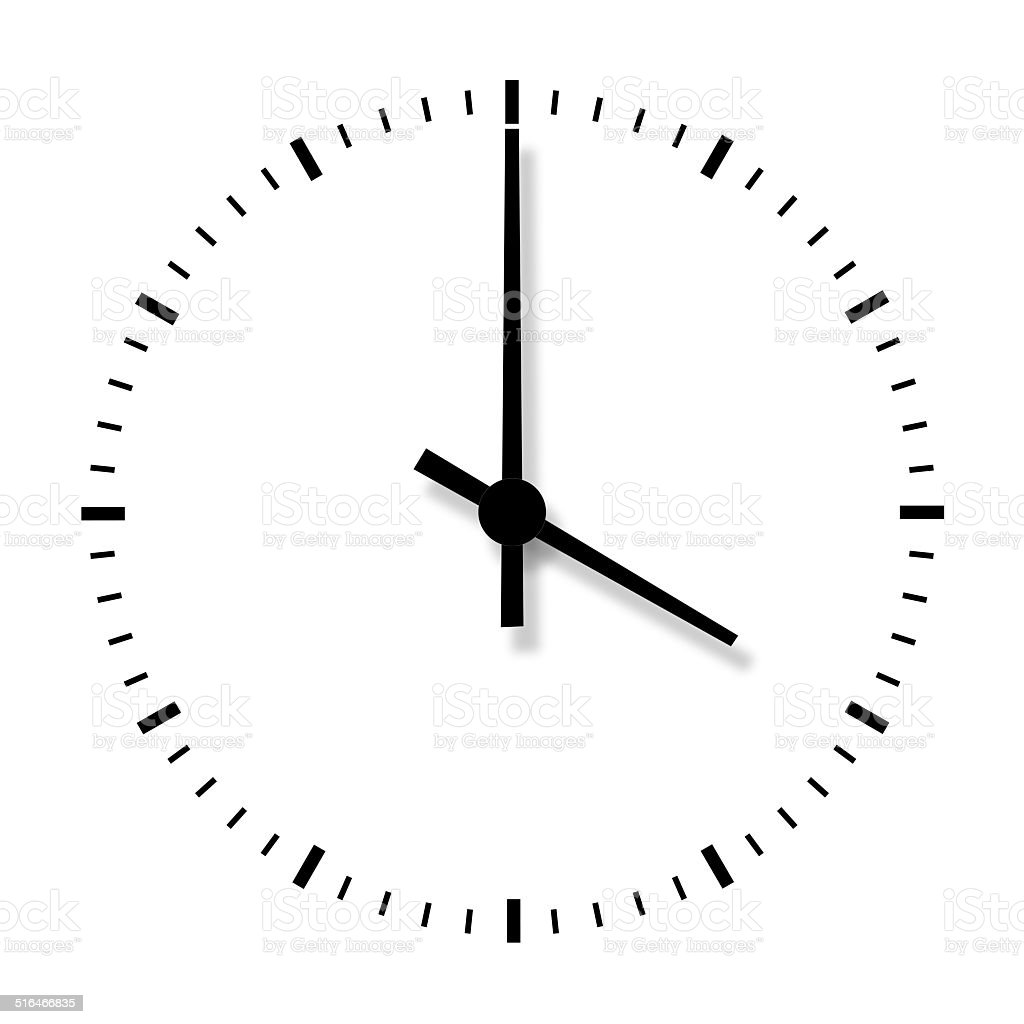 clock without numbers isolated on white background stock photo more pictures of alarm clock. Black Bedroom Furniture Sets. Home Design Ideas