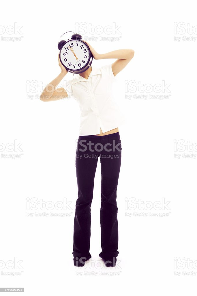 Clock woman royalty-free stock photo
