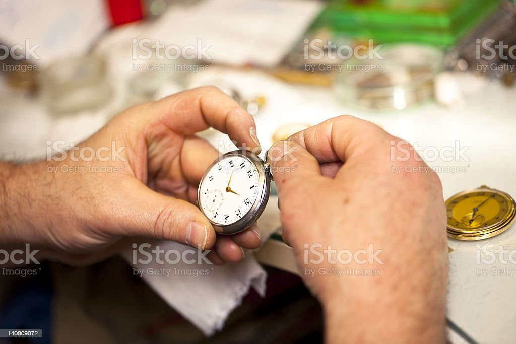 Clockmaker royalty-free stock photo
