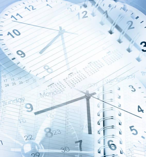 Clocks and calendars stock photo