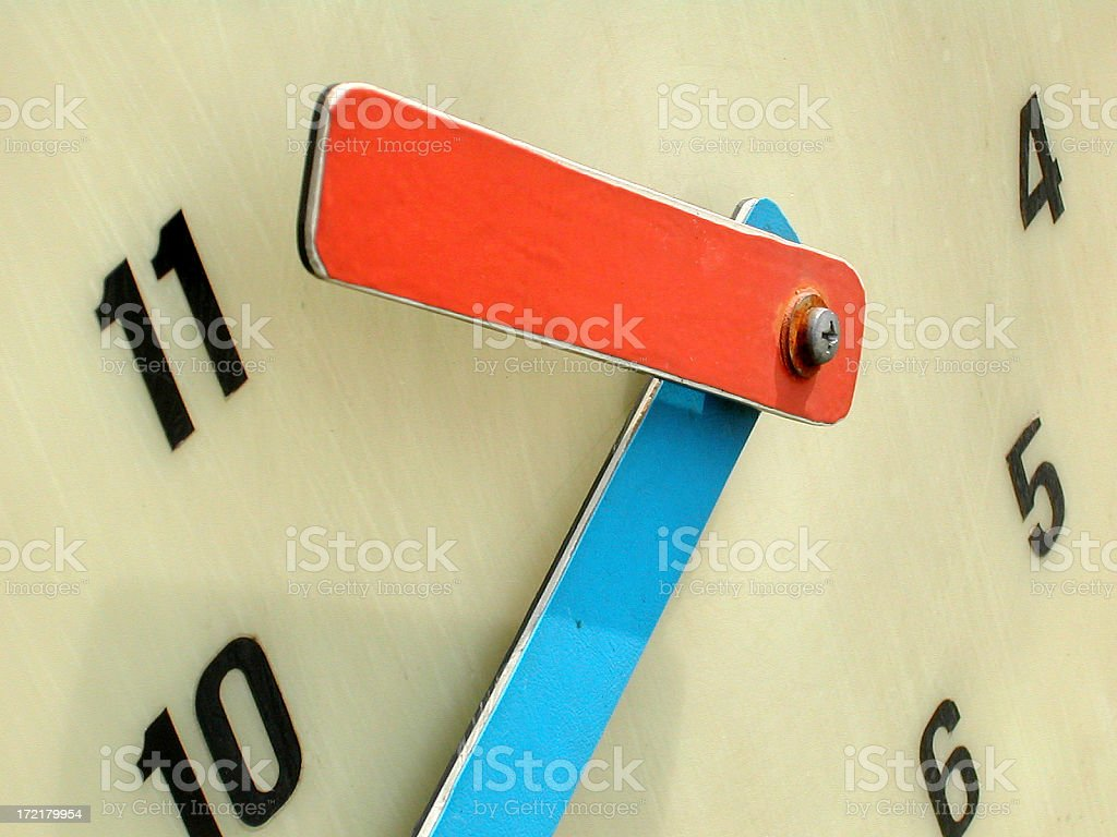 clock's hands royalty-free stock photo