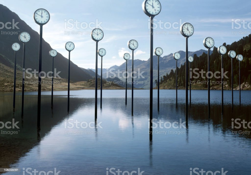 Uhren in Mountain Lake – Foto