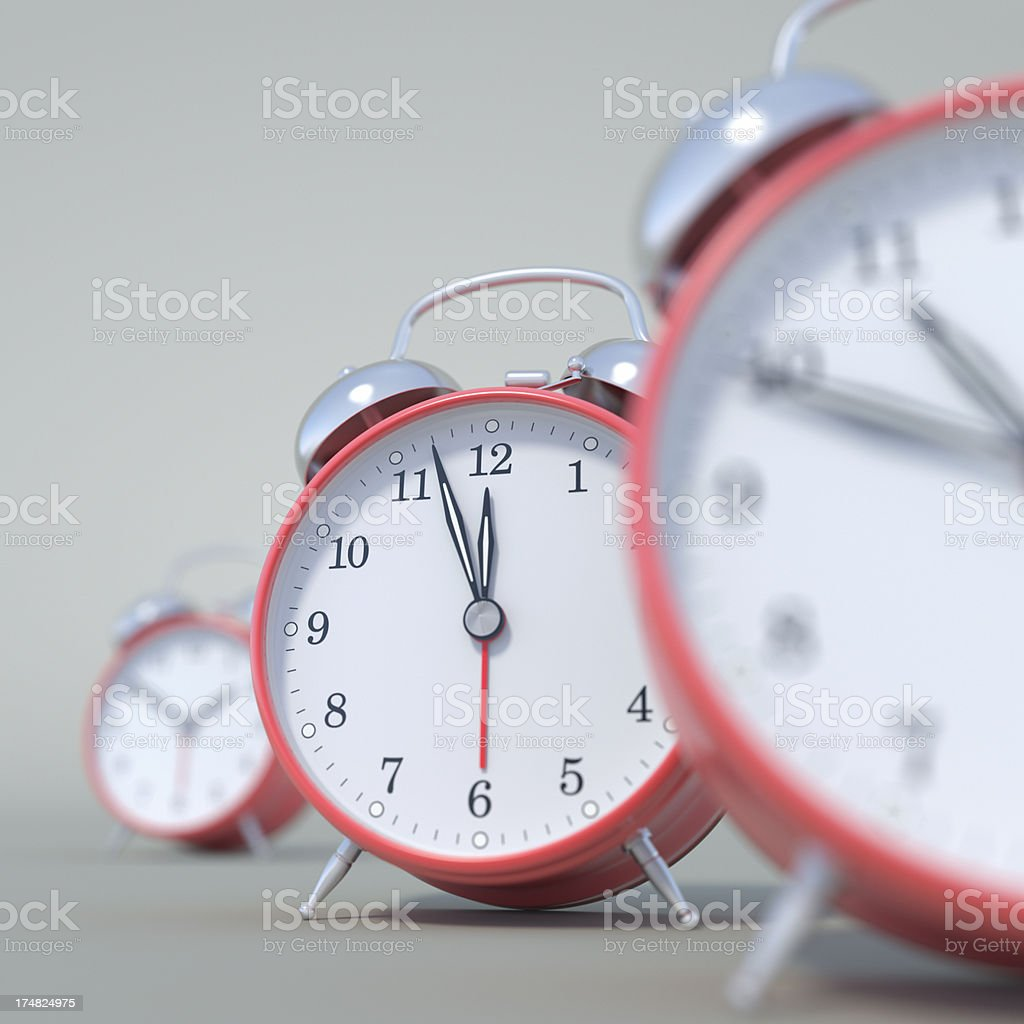 Clocks in Progression of Time XL+ royalty-free stock photo