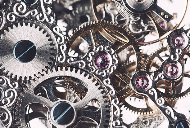 clockwork background - intricacy stock pictures, royalty-free photos & images