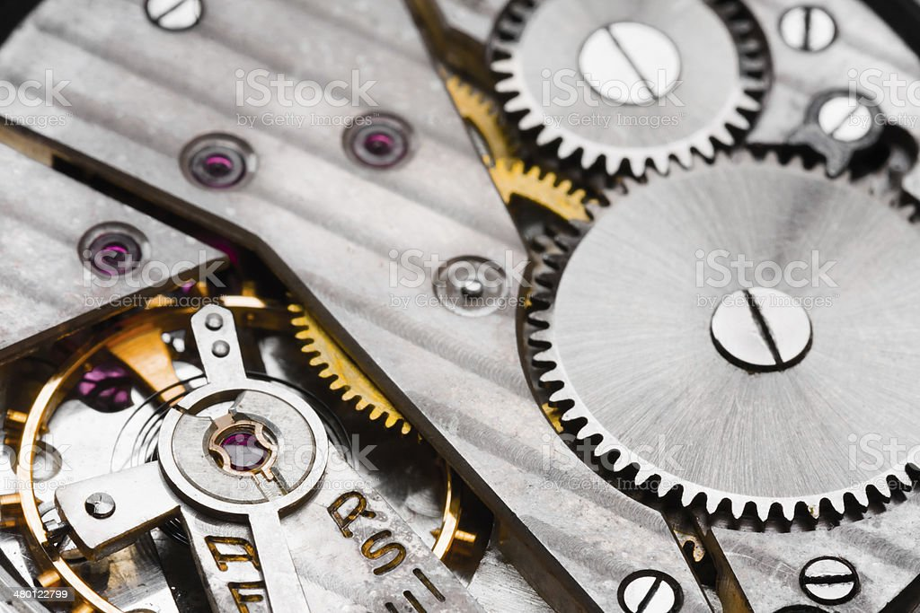 Clockwork Background stock photo
