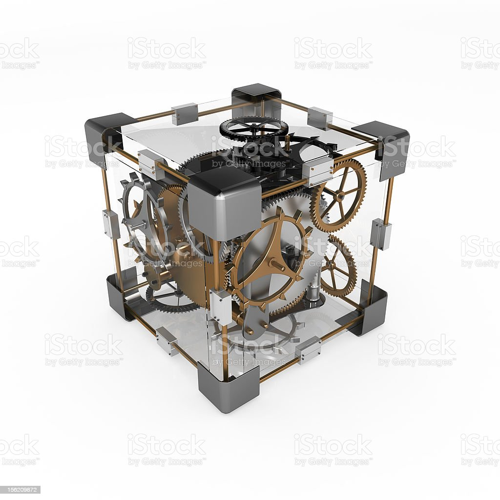Clockwork Cube stock photo