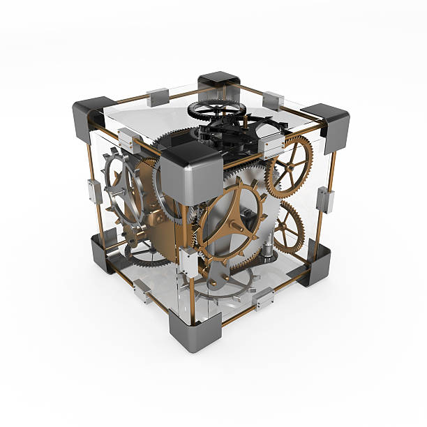 Clockwork Cube stock photo