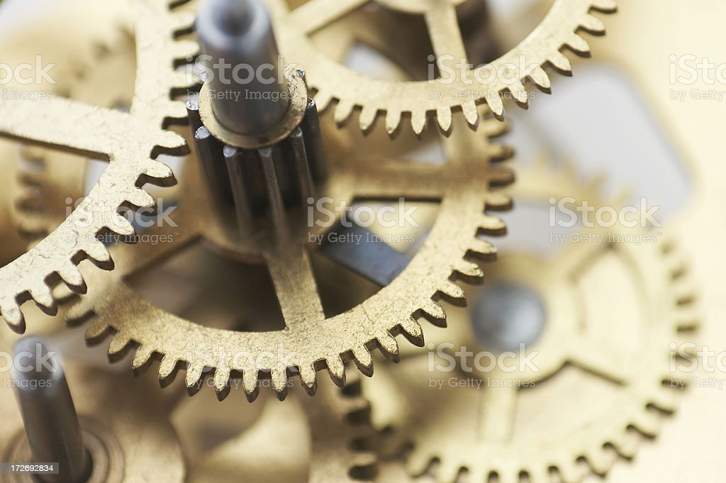 clockwork gears macro stock photo