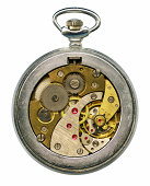 Macro of the clockwork of an pocketwatch.