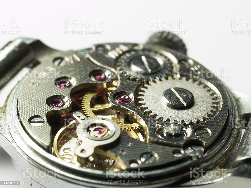 Clockwork under repair royalty-free stock photo
