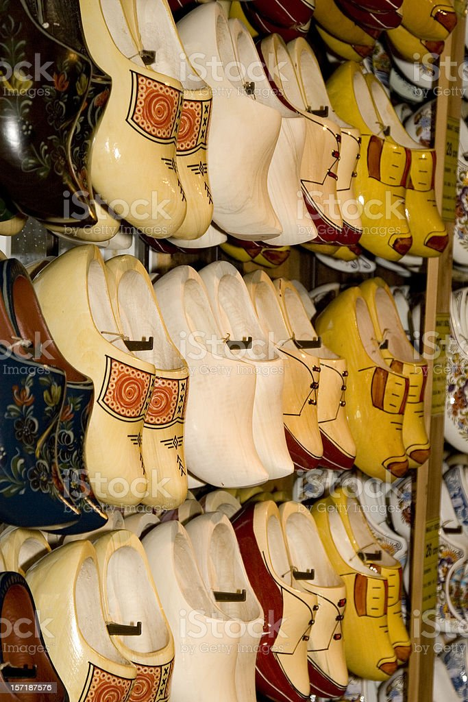 Clogs, Dutch wooden shoes royalty-free stock photo