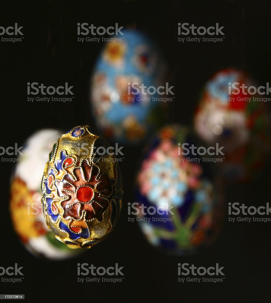 Cloisonne Eggs stock photo