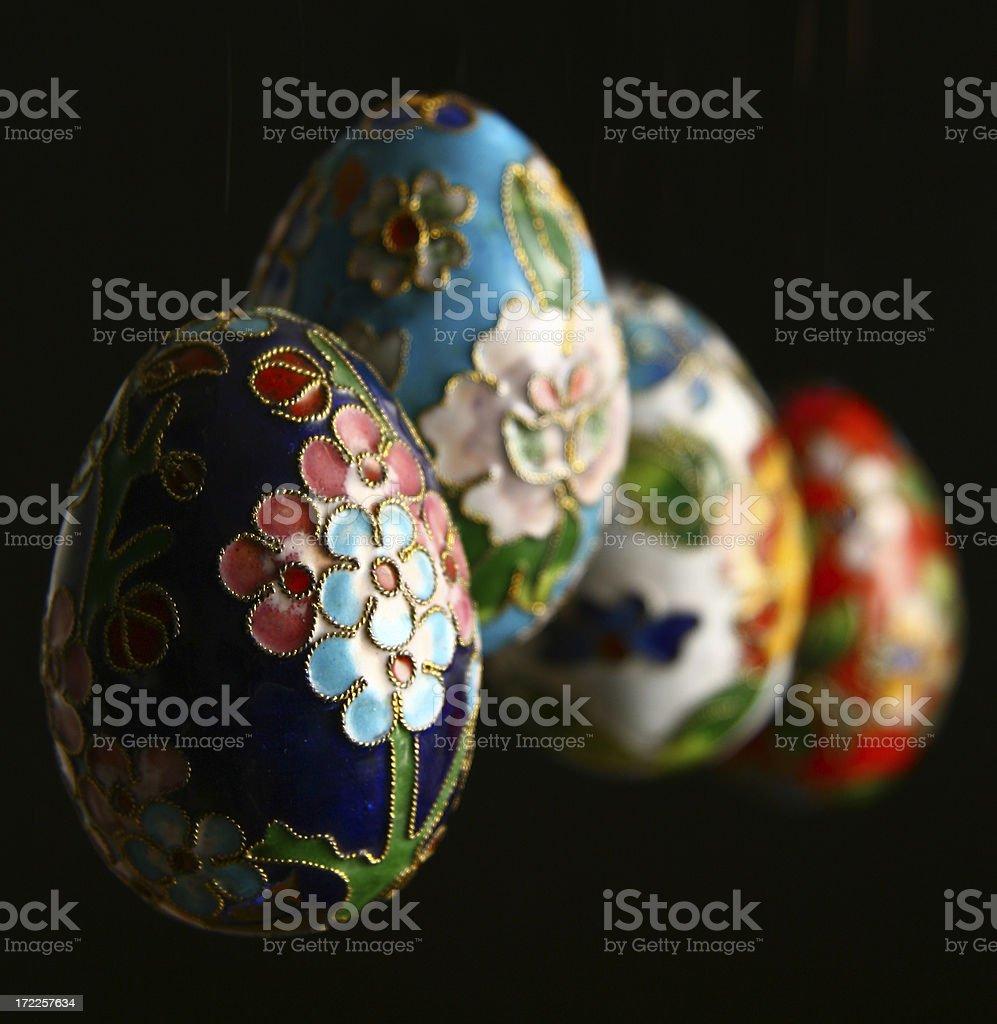 Cloissone Eggs stock photo
