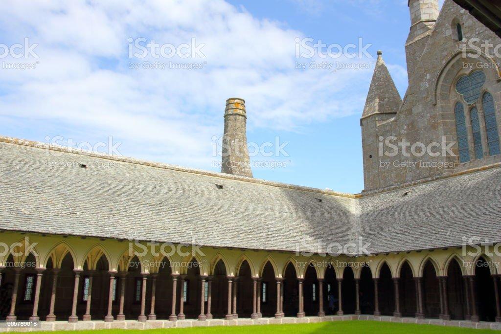 Klooster in Mont Saint-Michel - Royalty-free Abdij Stockfoto