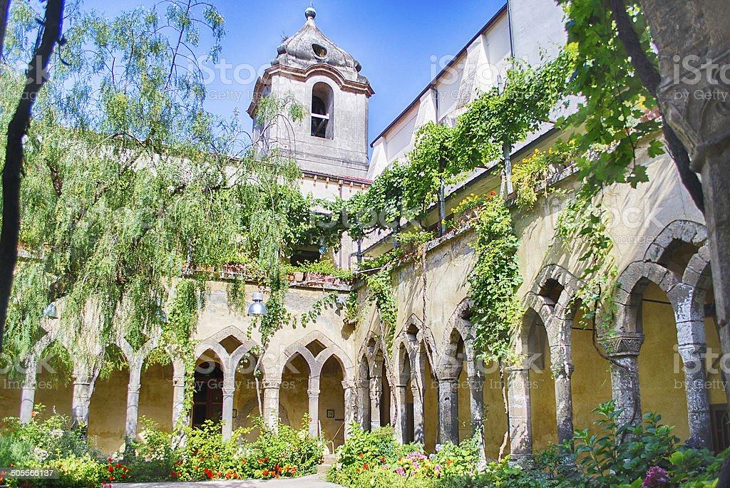 Cloister at San Francesco d'Assisi Church in Sorrento, Italy stock photo