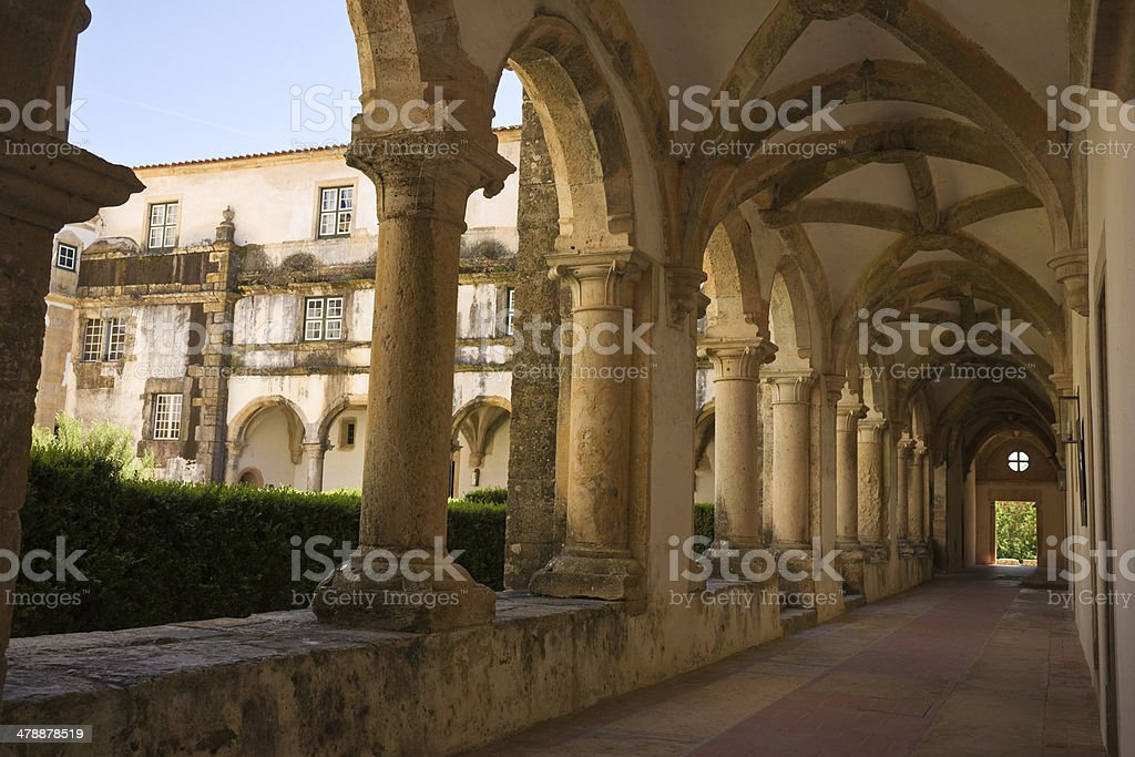 Cloister Convent Order of Christ in Tomar, Portugal stock photo