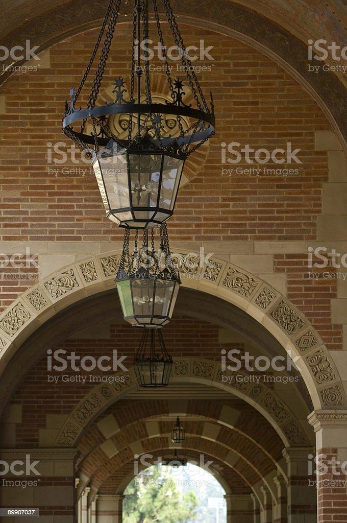 Cloister Lighting royalty-free stock photo
