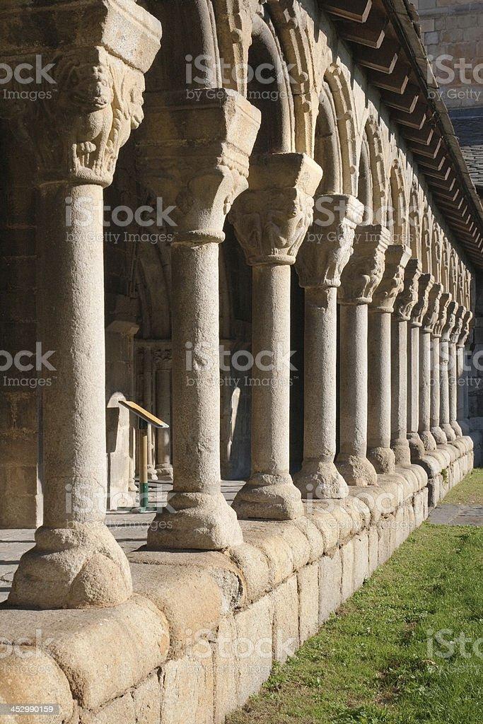 Cloister of La Seu de Urgell stock photo