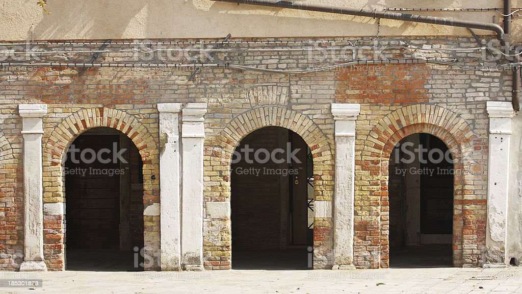 Cloister of Madonna dell'Orto Church in Venice royalty-free stock photo