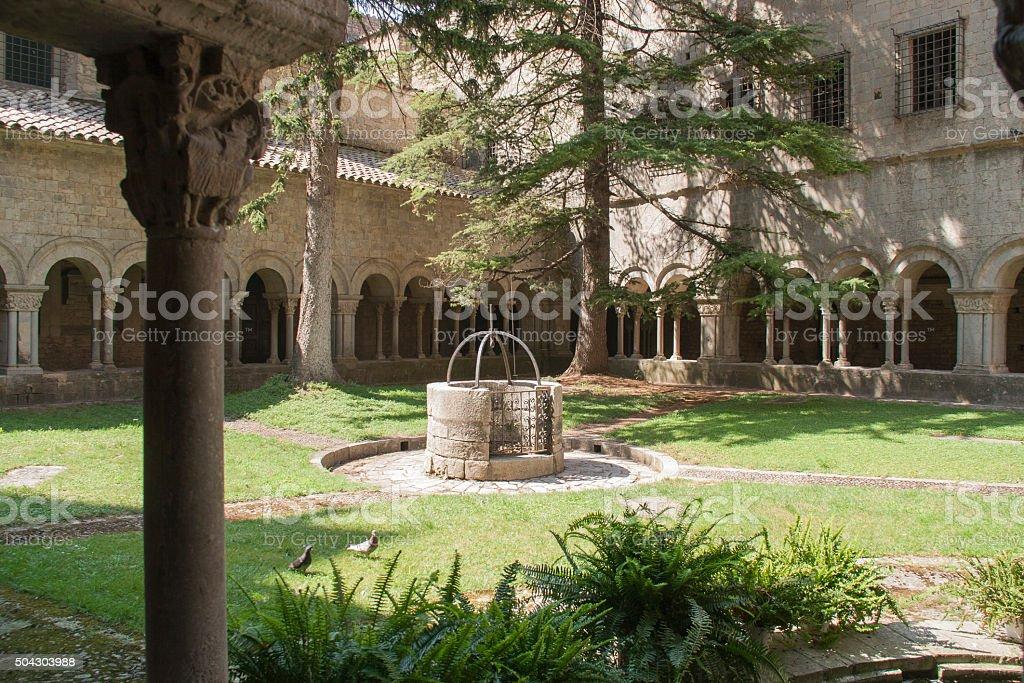 Cloister of Saint Mary Cathedral. Girona (Spain) stock photo