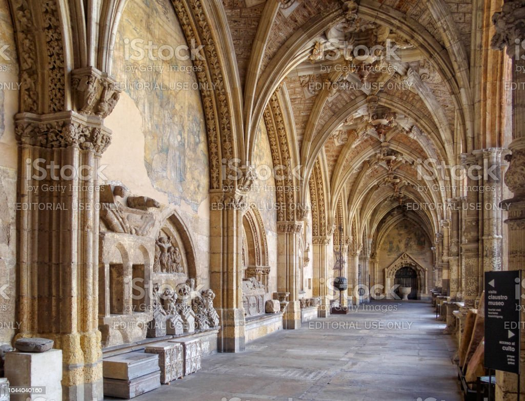 Cloister of the Cathedral - Leon stock photo