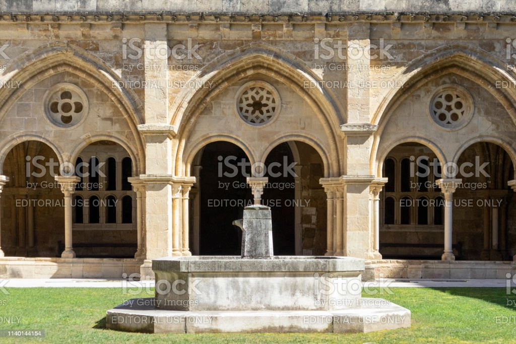 Cloister of the Cathedral Sé Velha de Coimbra, Portugal - stock photography - foto stock