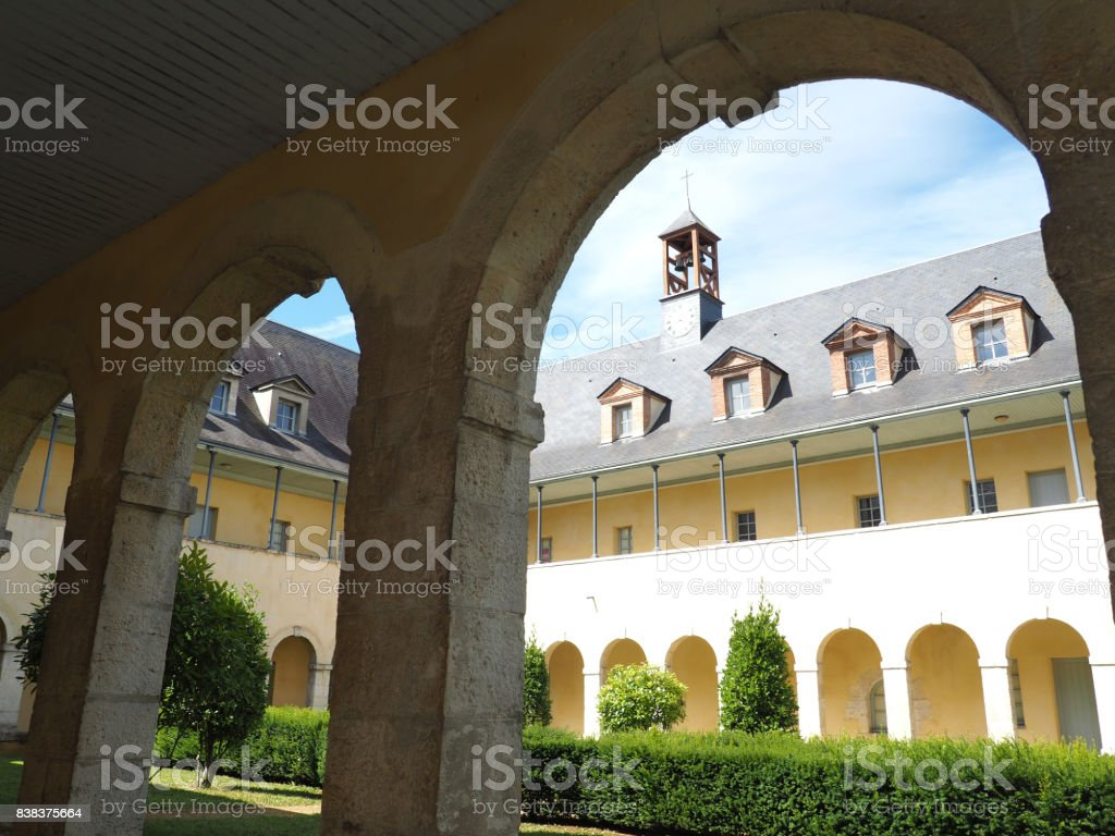 Cloister of the Ursulines stock photo