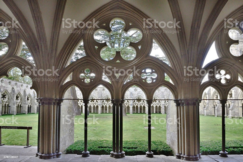 Cloister (Place of Worship) stock photo