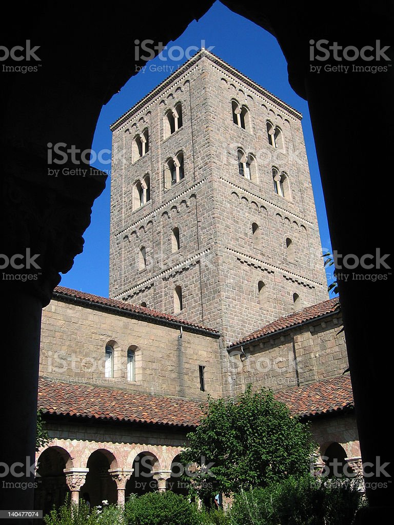 Cloister tower stock photo