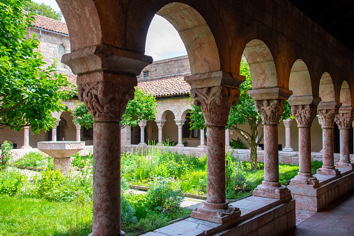 NEW YORK CITY, NY, USA - JULY 3RD 2019 - European medieval cloister in Washington heights in Manhattan (NYC)