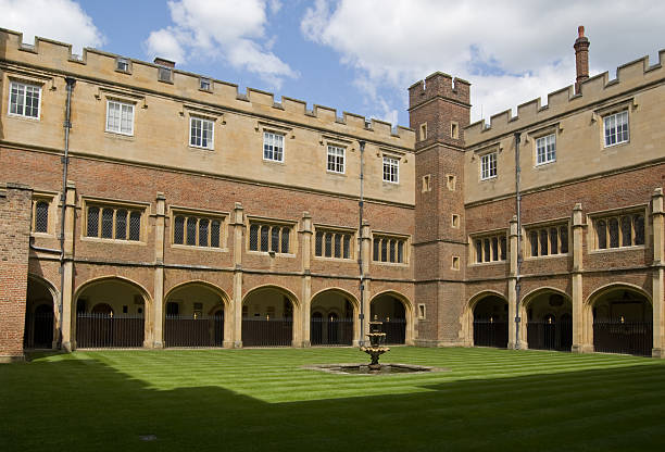 Cloisters at Eton College, Berkshire stock photo