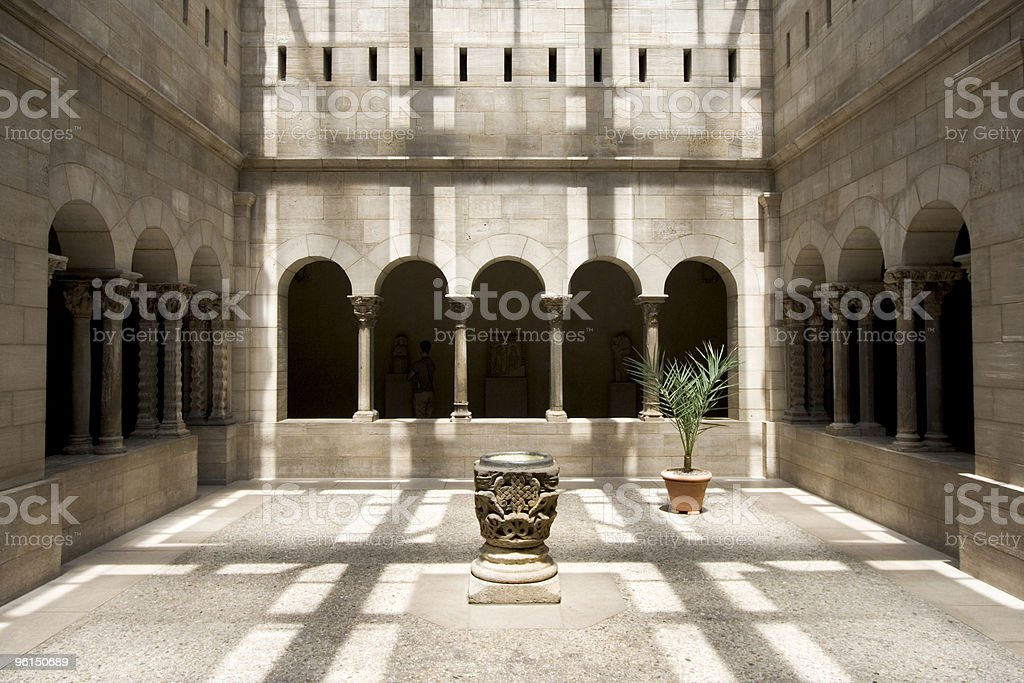 Cloisters Courtyard stock photo