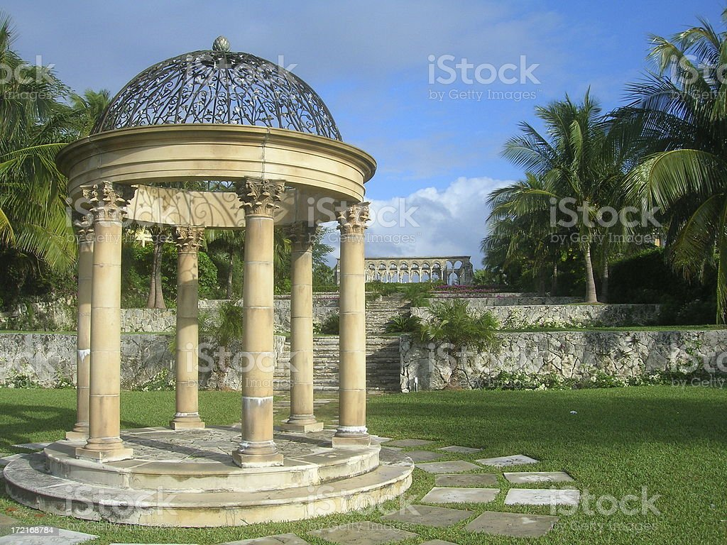 Cloisters in Nassau stock photo