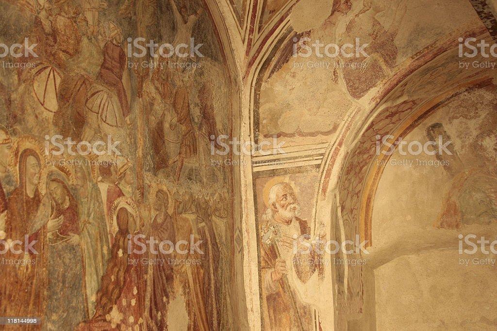Cloisters of Paradise Fresco - Amalfi, Italy stock photo