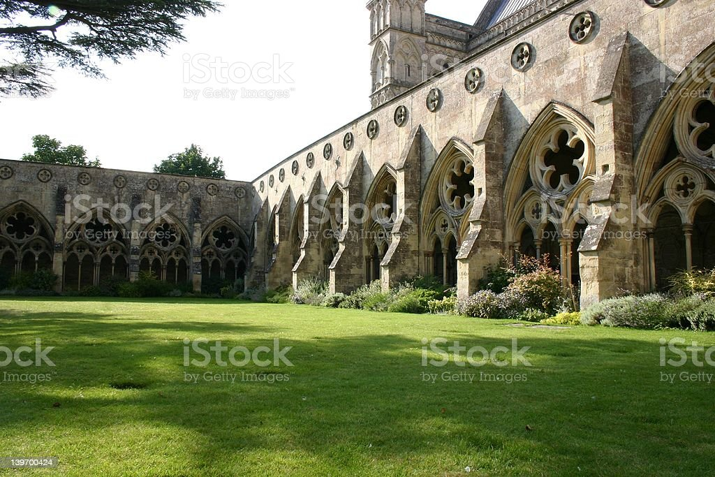 Cloisters, Salisbury Cathedral royalty-free stock photo