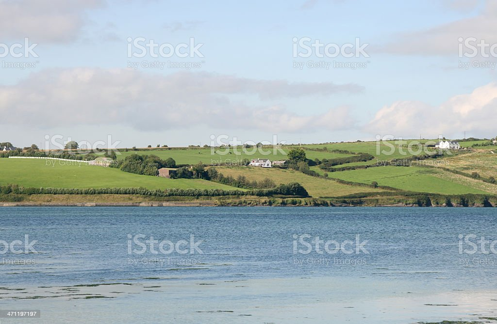 Clonakilty Estuary on the Atlantic coast of Ireland stock photo
