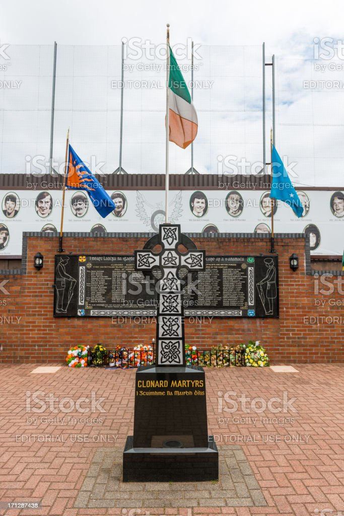 Clonard Martyrs Memorial Garden stock photo