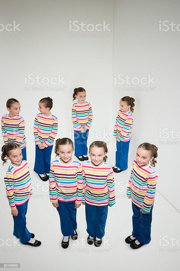 Cloned girl stock photo
