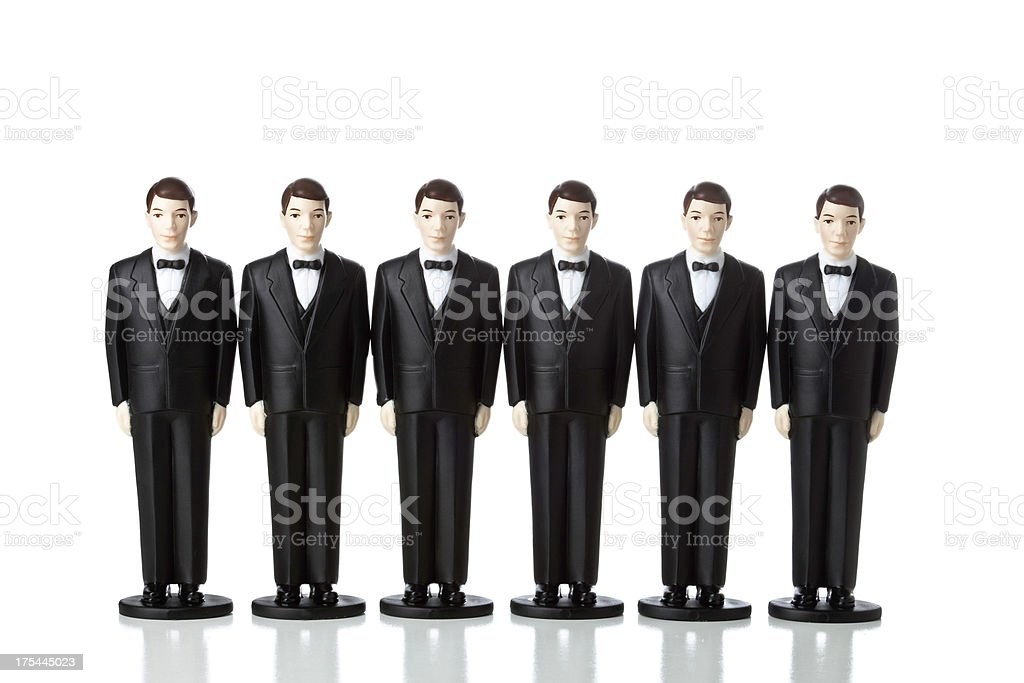 Clones Men in Suits stock photo