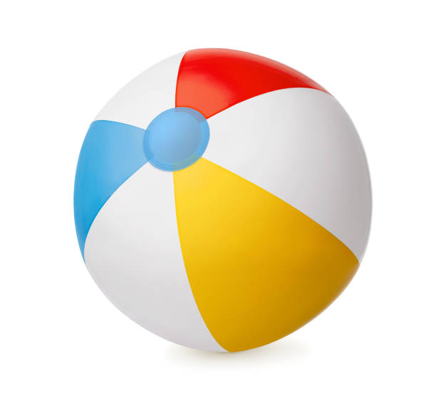 Clorful beach ball isolated on white background stock photo
