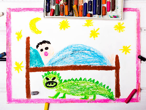 Clorful drawing scary monster under the childrens bed picture id534456090?b=1&k=6&m=534456090&s=612x612&w=0&h=e47ogmfgfac6nz6gq15axlsafhu6b28dy7fii1o9s7u=