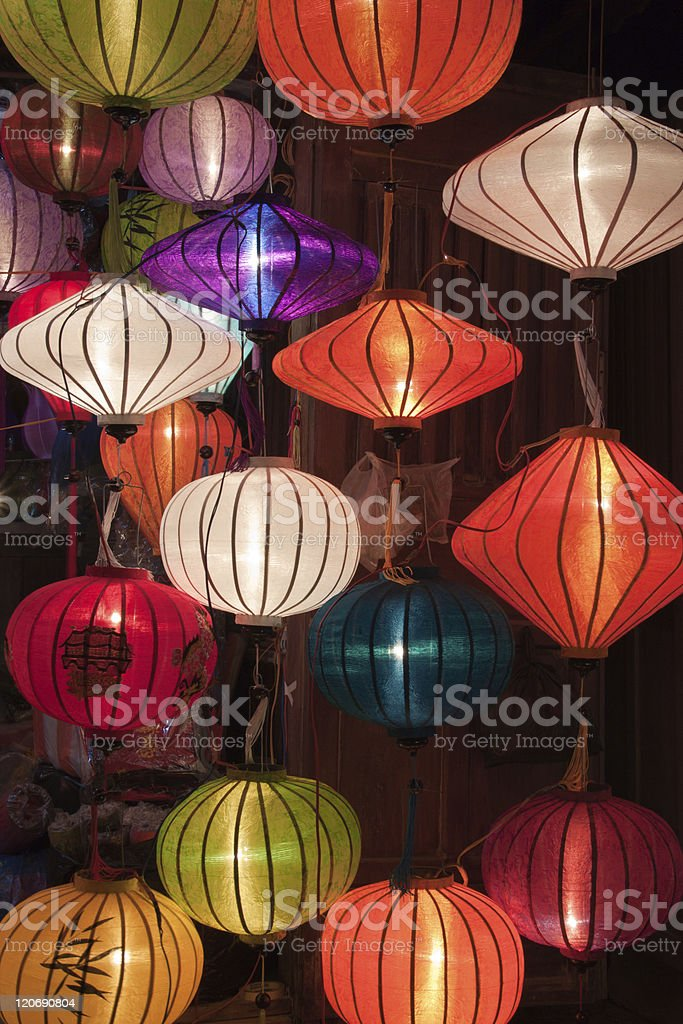 Clorful paper lanterns royalty-free stock photo