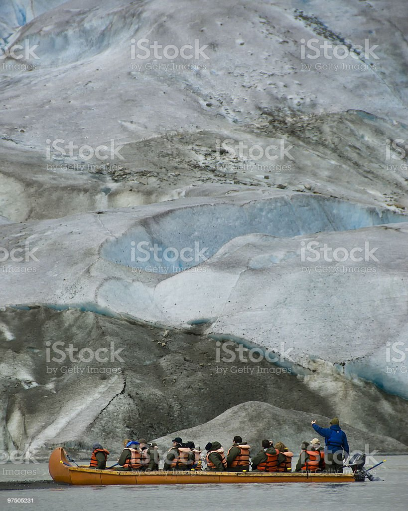 Close Approach to Davidson Glacier royalty-free stock photo