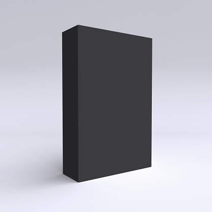 Close Box Template On Simple Background Stock Photo