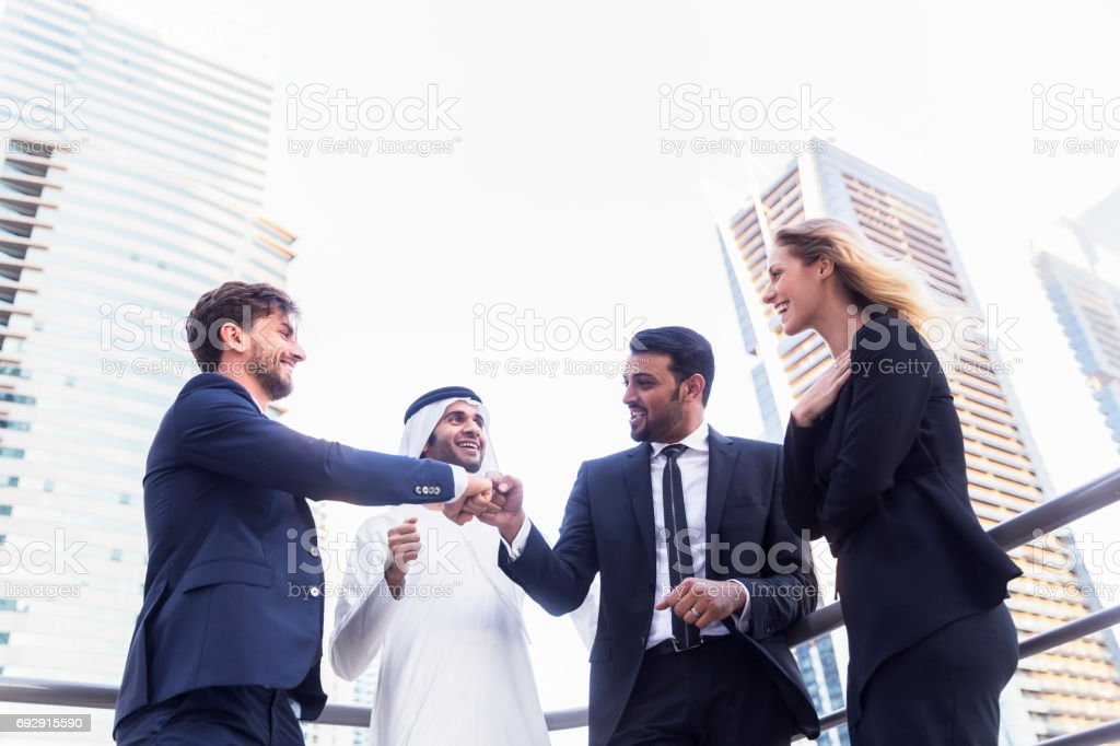 Close colleagues spending time together after work stock photo