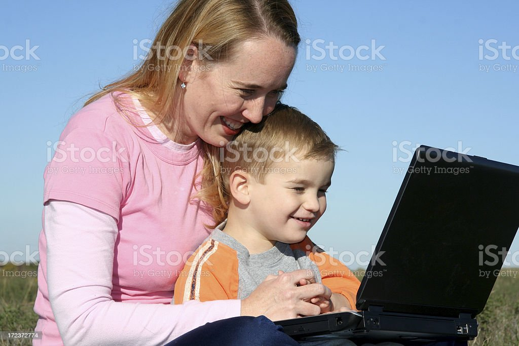 Close Computer Time royalty-free stock photo