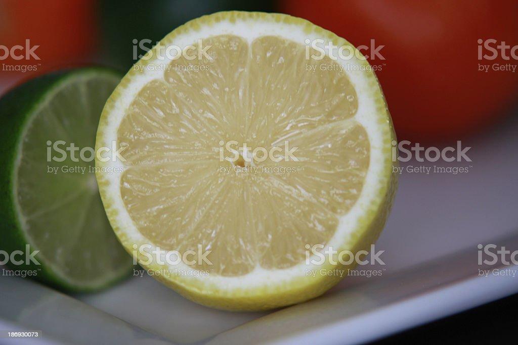 Close crop of cut lemon royalty-free stock photo