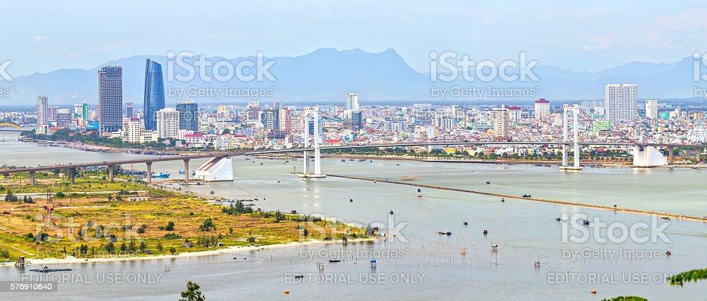 Close Da Nang city stock photo