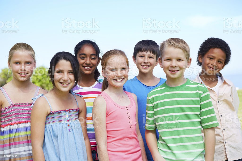 Close friends royalty-free stock photo